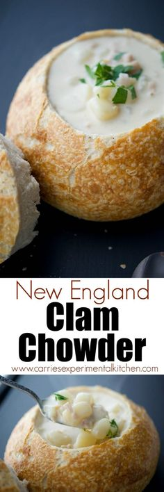New England Clam Chowder is a deliciously creamy, clam based soup that will satisfy even the heartiest of appetites. Serve alone or in a bread bowl!