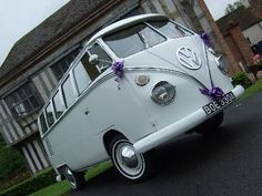 this was the campervan that we had for our wedding day!!! it was absolutely brilliant! would love one of my own one day!!