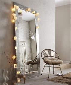 Feature mirror and chair