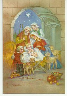 Sagrada Familia en tarjeta de Paulinas Serie Encarnación 4