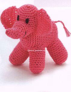 Crochet elephant