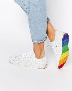 Image 1 - Converse - Pride Chuck Taylor - Baskets mouchetées à motif arc-en-ciel sur la semelle: