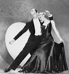 "Fred Astaire and Ginger Rogers, in an RKO promotional publicity photograph illustrating the ""Smoke Gets In Your Eyes"" number from Roberta (1935)"