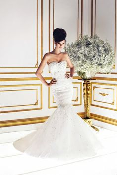 Bellina Start your luxury wedding dress search with this Pinterest board! Here at Perfect Moments with Cee, we hope to be your luxury wedding Pinterest destination!  Take a look at the beautiful gown here.|| ❤❤ #luxuryweddinggowns #luxurybridaldresses