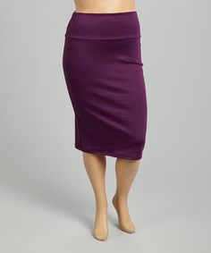 Look what I found on #zulily! Eggplant Pencil Skirt - Plus #zulilyfinds
