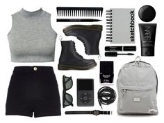Set #17 by audenb on Polyvore featuring polyvore, fashion, style, River Island, Dr. Martens, Red Herring, Stussy, NARS Cosmetics, Urban Decay, GHD, Butter London, Essie, Urbanears, Paperchase and Ray-Ban