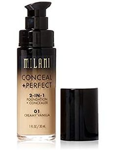 Milani Conceal + Perfect Foundation + Concealer - Choose Any Shade 01 Almost Gone! Makeup Beauty Box, Makeup Box, Eye Makeup, Perfect Foundation, Liquid Foundation, Milani Conceal And Perfect, Milani Cosmetics, Small Makeup Bag, Makeup Sale