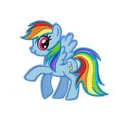 My Little Pony Rainbow Dash Embroidery Design  by Cloud9Embroidery