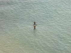 Birds Eye View of Tiny Human Figures on the Beach | Photographer: Richard Misrach