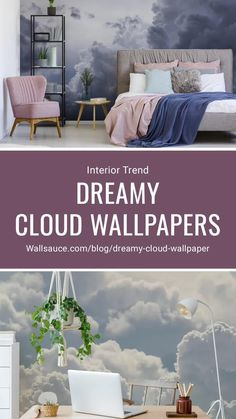 Feel like you're floating through the skies with these mesmerising cloud wallpaper murals. Perfect for a relaxing bedroom interior or cute gender-neutral nursery, even a motivational office, they are so versatile! Shop your favourite at Wallsauce.com