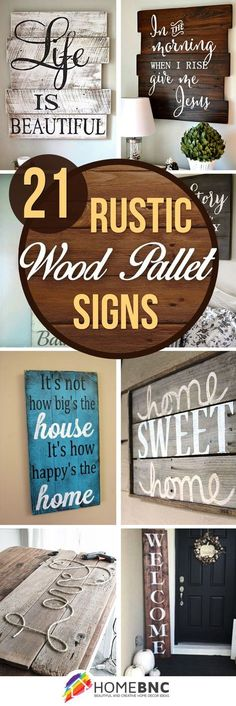 Wood diy - 21 wood signs to add rustic glam to your decor, wood decoration christmas pallet signs Diy Pallet Projects, Woodworking Projects Diy, Woodworking Plans, Woodworking Furniture, Woodworking Workshop, Intarsia Woodworking, Craft Projects, Wood Furniture, Popular Woodworking