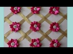 BackDrop Flowers DIY Home Decoration - YouTube