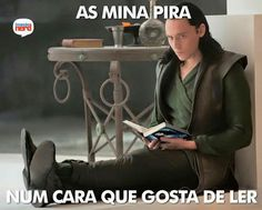 Sim ♥ (As mina pira) Loki, Funny Phrases, Book Memes, Literary Quotes, Love Book, Experiment, Book Lovers, Haha, My Books