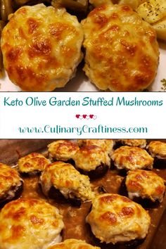 Keto Olive Garden Stuffed Mushrooms | Culinary Craftiness