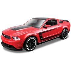 1:24 AL 2012 Ford Mustang Boss 302 Die-cast - Red , This model kit comes with everything you need. It is highly detailed with opening parts, a pre-painted metal body and, when finished, is a fully functional, rolling die-cast model.