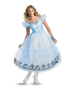Tim Burton's Alice in Wonderland Deluxe Adult Womens Costume