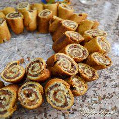 Swirl date cookies