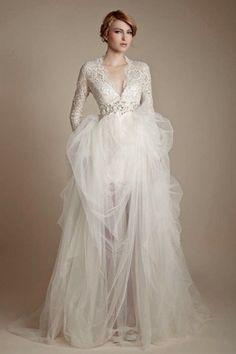 101 Adorable Long-Sleeved Wedding Dresses | HappyWedd.com