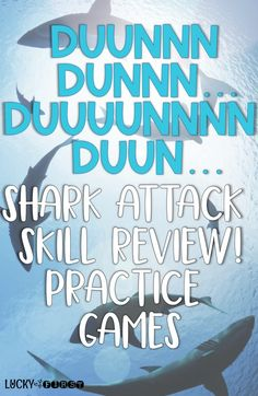 Shark Attack Skill Review! Review important skills with this fast-paced no-prep game!