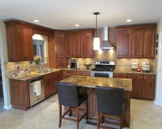 L-shaped Kitchen Designs with Island | Shaped Kitchen Island Design, Pictures, Remodel, Decor and Ideas ...