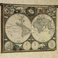 World map framed print inside pinterest map frame find this pin and more on room the best 15 old world map sciox Gallery
