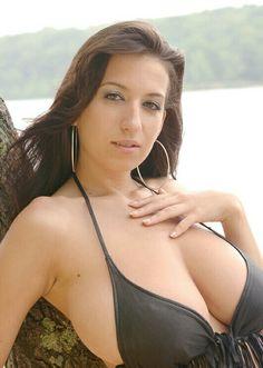 Jana Defi - black tassled bikini top - close up