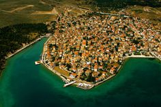 Air photo. Galaxidi, Greece.