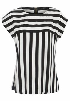 F&F Contrasting Stripe Shell Top Blouse Styles, Blouse Designs, Style Feminin, Top 14, Plus Size Jeans, Cute Fashion, Casual Tops, Ideias Fashion, Casual Outfits