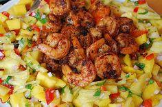 Blackened Shrimp with Pineapple Salad | Mehan's Kitchen
