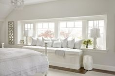 A window seat that looks lovely in #white.