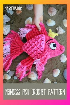 Fish crochet pattern - Handmade from Etsy - Fish crochet pattern is an 37 pages PDF pattern (with step by step photos) – Available in English - Crochet Fish, Form Crochet, Crochet Animals, Crochet Patterns Amigurumi, Crochet Dolls, Fabric Dolls, Rag Dolls, Handmade Toys, Handmade Ideas