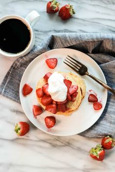 These Whole Wheat Sourdough Pancakes are light, fluffy, and packed with that lovely sourdough flavor! They make the perfect weekend breakfast or holiday brunch! Whole Wheat Sourdough, Sourdough Pancakes, Whole Wheat Flour, Roasted Strawberries, Vegetarian Breakfast, Brunch, Baking, Food, Patisserie