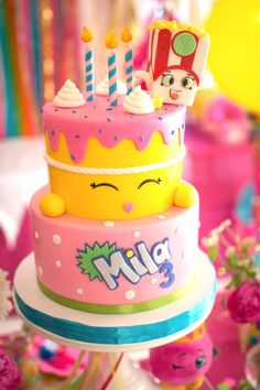Birthday Betty Cake from a Floral Shopkins Birthday Party on Kara's Party Ideas | KarasPartyIdeas.com (41)