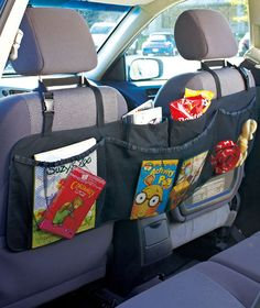 Out of stock but awesome idea!!  Backseat organizer for all your kids crafts and toys.  $6.95. FOR SURE ordering this for the van. PERFECT!