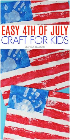 Sponge Painted American Flag Craft Sponge Painted American Flag Craft Easy patriotic craft perfect for toddlers and preschoolers too The post Sponge Painted American Flag Craft appeared first on Toddlers Diy. Fourth Of July Crafts For Kids, Crafts For Kids To Make, 4th Of July, Art For Kids, February, Daycare Crafts, Toddler Crafts, Preschool Crafts, Fun Crafts