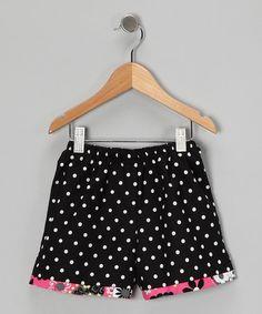 Black & White Polka Dot Shorts - Toddler & Girls