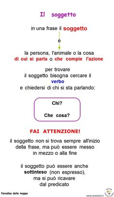 Italian Grammar, Italian Language, Primary School, Elementary Schools, Learn To Speak Italian, Italian Lessons, School Study Tips, Learning Italian, Problem Solving
