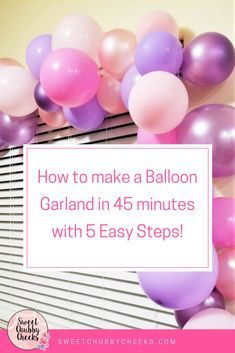 If you follow along in my Instagram stories you probably saw my tutorial on how to make these gorgeous balloon garlands. If you missed it Don't Worry! I saved the photos and I'm showing you how to do it today. The best part? The whole thing only took me about 45 minutes! Supplies: 36 balloons in various colors clear fi
