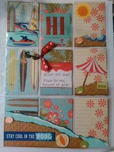 "Pocket Letter ""Relaxing at the Beach"" - Scrapbook.com"