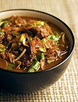 One Pot Wonder -  Orange Ginger Beef  (could sub coconut oil and coconut aminos if desired)