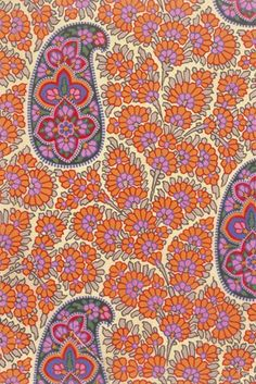 George Haité, Design for a Paisley shawl, 1850. England. Watercolour and gouache.      George Haité (1825-1871) was a well known and prolific designer of shawl patterns. By 1850 he and his fellow designers were drawing enormous and fantastic all-over patterns based on pine cones. They were of brilliant colour and had large repeats. V&A