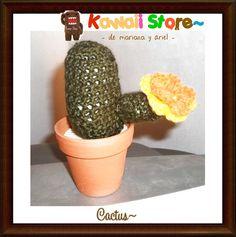 Cactus Decorativos Realizados Artesanalmente en Crochet. Decora tu casa. Son Tendencia! Son Moda! No dejes de tenerlos <3 en Kawaii Store los tenemos para vos <3