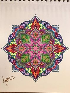 ColorIt Mandalas to Color Volume 1 Colorist: Lynn Posey Pendleton #adultcoloring…