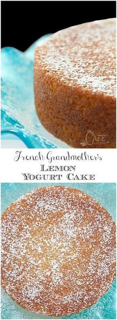 This fabulous French Grandmother's Lemon Yogurt Cake has a really fun history. It's also moist, super delicious and can be thrown together in minutes! via cake French Grandmother's Lemon Yogurt Cake Lemon Desserts, Just Desserts, Delicious Desserts, Dessert Recipes, Yummy Food, Baking Desserts, Picnic Recipes, Dessert Food, Health Desserts