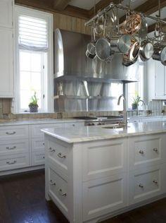 salvaged wood textured kitchen backsplash, with opposing modern elements