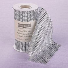 "Michaels.com Wedding Department: Celebrate It™ Bling Ribbon Wrap Add a bit of sparkle and shine to your wedding day with Celebrate It™ Bling Ribbon Wrap! Wrap can be cut to size for a variety of DIY projects. Comes in various colors in 6"" x 3 yards."