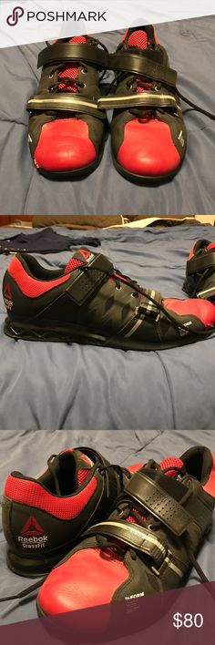 New Addition Men's Reebok Crossfit Shoes Reebok crossfit shoes worn once! Small blemish on the toe of one shoe (he tripped ). These are a great shoe to help with your crossfit goals! Same or next day shipping! Reebok Shoes Athletic Shoes
