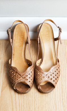 Boho Heels / 70s / by thriftage, $48.00 // Vintage Street Style