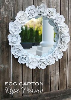 Make // Egg Carton Flower Frame