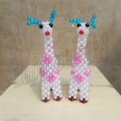 3D beading Giraffe beadwork for Children Decorative Artwork Xmas gift home decor